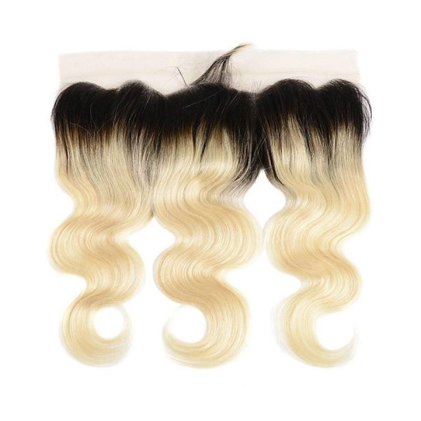 13x4 Lace Frontal 1B/613 Blonde Hair Body Wave