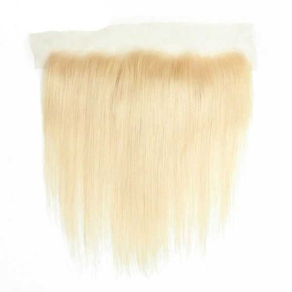 European Straight Hair 13x4 Blonde Lace Frontal