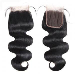 Malaysian Body Wave 4x4 Lace Closure 100% Virgin Human Hair