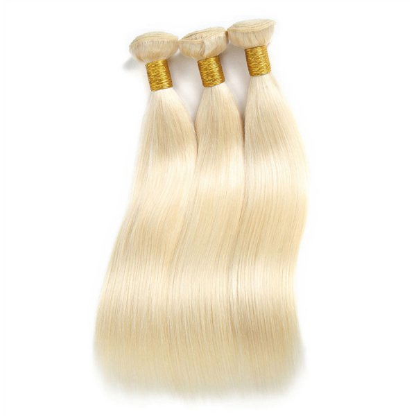 Blonde European Straight Hair Bundles