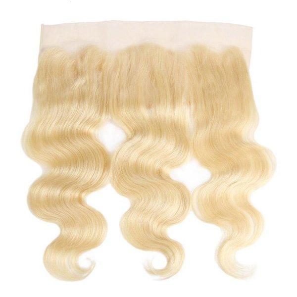 Heaven Sent Hair 613 Blonde 13x4 Lace Frontal European Body Wave Hair