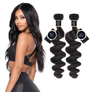 Heaven Sent Hair Brazilian 2 Bundles Virgin Human Hair Bundle Deals