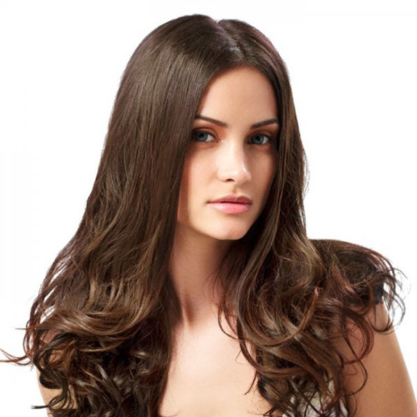 Custom Colored Double Drawn Clip-In Dark Hair Extensions