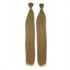 Custom Colored Double Drawn Flat Tip Dark Hair Extensions