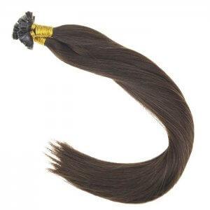 Custom Colored Single Drawn Flat Tip Dark Hair Extensions