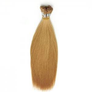 Custom Colored Single Drawn Flat Tip Light Hair Extensions