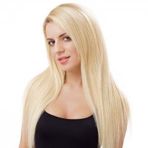 Custom Colored Single Drawn Hand-Tied Light Hair Extensions